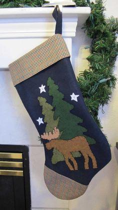 Moose Christmas stocking