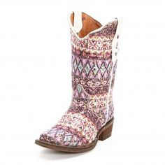Tanner Mark Aztec Sparkle Cowgirl Boots baylyns  got  for her birthday.