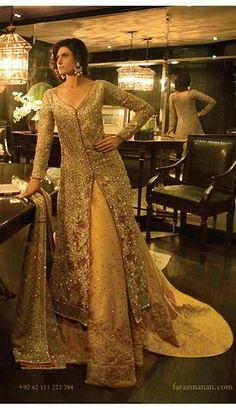Pakistani Bridal Lehenga by Faraz Manan Pakistani Couture, Indian Bridal Wear, Asian Bridal, Pakistani Wedding Dresses, Pakistani Outfits, Indian Dresses, Indian Outfits, Indian Couture, Indian Wear