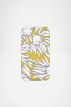 DVF Saffiano iPhone 4 case in Tropical Plants Tiny Mustard