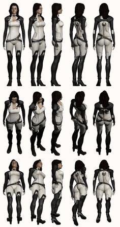 Mass Effect 2, Miranda - Model Reference. by =Troodon80 on deviantART