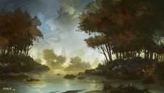 Painter 12 Test: Lagoon by ~ATArts on deviantART