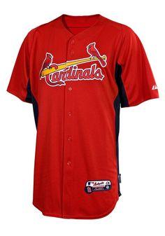 St Louis Cardinals Mens Baseball Jersey - Red STL Batting Practice Baseball  Jersey ... c0f4b3c04