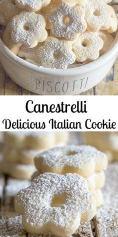 Canestrelli Delicious Italian Cookies Canestrelli a wonderfully delicious Italian Cookie, an almost shortbread type cookie but with a crunch, fast and easy. The perfect afternoon tea cookie. Italian Cookie Recipes, Easy Cookie Recipes, Cookie Desserts, Sweet Recipes, Baking Recipes, Dessert Recipes, Egg Yolk Recipes, Italian Lemon Cookies, Cookie Cakes
