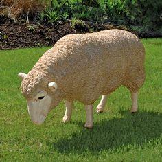 Design Toscano Merino Ewe Life Size Head Down Sheep Statue