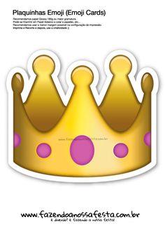 Plaquinhas Emoji Whatsapp Coroa