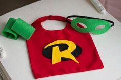 Super Hero Costumes for Newborns - Photography Prop - Halloween - Batman, Superman & Robin. via Etsy.