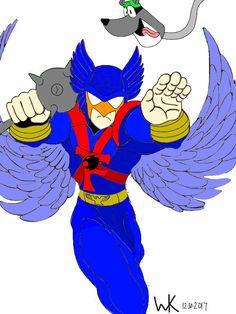 hanna barbera's blue falcon/hawkman