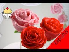 Paletas de Torta en forma de Rosa para San Valentín