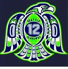 Seahawks - tribal. I have this on a hoodie... best ever!