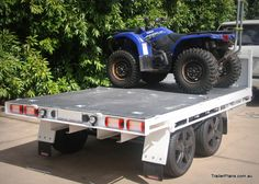 Toy hauler tipping trailer with removable sides. Full hydraulic tipping deck that converts into a toy hauler with removable sides. Tilt Trailer, Free Trailer, Trailer Plans, Trailer Build, Quad Trailer, Toy Hauler Trailers, Flatbed Trailer, Off Road Camper Trailer, Camper Trailers