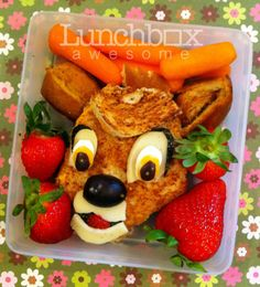 Amazing! - This is a series of lunches from mother Heather Sitarzewski, who makes her son a different (predominately Disney cartoon) character bento box every day (often with unusual food combinations).