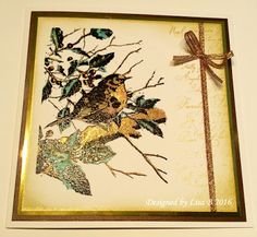 Handmade card by Lisa B. Imagination Crafts' Art Stamps, Sparkle Medium, Starlights.