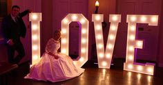 Light Up Letters. LOVE Letters. Mighty Fine Entertainment, award-winning wedding DJs provided light up letters for wedding at The In & Out Club in London. www.mfent.co.uk #LOVELETTERS #Lightupletters #Theinandoutclub #WeddingDJ