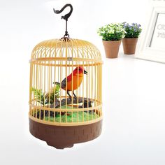 Bird Cage Bed Bell Battery Edition Children gift Creative Toy Development BC