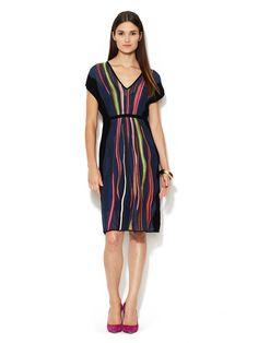 V-Neck Solid Side Panel Dress by M Missoni at Gilt