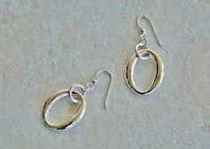 Sterling Oval Drop Earrings