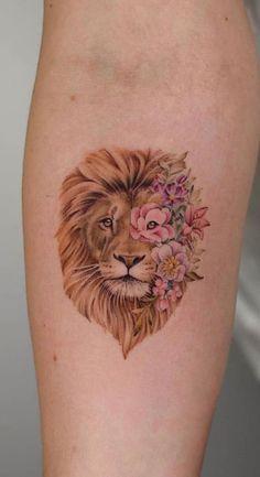 by Bryan Gutierrez lion tattoo 60 Gorgeous Tattoos Your Friends Will Hate You For - Straight Blasted Leo Tattoos, Mini Tattoos, Cute Tattoos, Body Art Tattoos, Sleeve Tattoos, Small Tattoos, Tatoos, Fun Tattoo, Wrist Tattoo