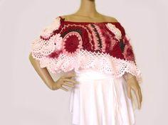 Freeform crochet capelet Freeform crochet shawl by allmadewithlove, $155.00