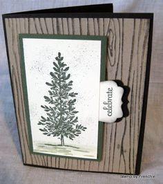 Stamp & Scrap with Frenchie: Tips on Spritzer, Woodgrain embossing folder  use vellum card stock to stop the paper from cracking when using embossing folder