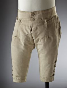 Silk breeches 18th-century, part of a wedding suit