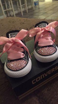273c7b21b15e27 Kids and ToddlerRhinestone Converse  Bling Shoe  Kids Shoes  Rhinestone   Kids Converse