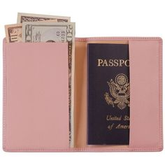Royce Leather Passport Jacket (Carnation Pink) (59 CAD) ❤ liked on Polyvore featuring bags, luggage, fillers, accessories, passports, extra and carnation pink