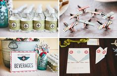 Frankie's Vintage Airplane Birthday Party // Hostess with the Mostess® Planes Birthday, Twin Birthday Parties, Planes Party, 2nd Birthday, Birthday Ideas, Vintage Airplane Theme, Vintage Airplanes, Top Gun Party, Vintage Party