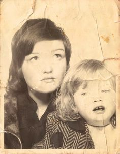 mother and daughter 1973 photobooth | Flickr - Photo Sharing!