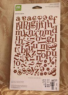 Making Memories 76 Shimmer Alphabet Embellishment, Jigsaw Swash Pieces, Purple Glitter Letters, Purple Chipboard Alphabet, Purple Alphabet by MyCreativePossession on Etsy