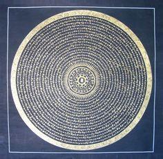 mythologyofblue:    Mantra mandala  (eyeburfi)