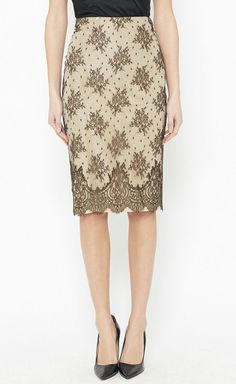 Light Gold & Brown Skirt.