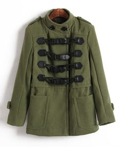 Duffle Parka with Double Breasted Detail