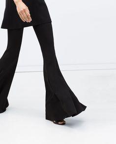Zara - Pantalon maxi pattes d'éléphant