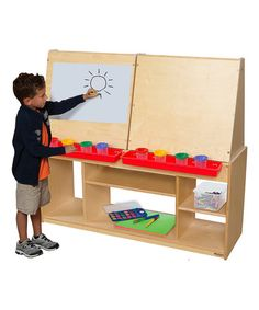 Look at this #zulilyfind! Red Four-Person Art Center #zulilyfinds
