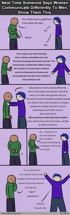 Communication is complicated...don't make it worse by believing it has something to do with gender.