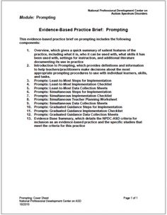 Prompting | CSESA Applied Behavior Analysis, Behavior Management, Aba, Professional Development, Speech Therapy, Assessment, Prompts, Disorders, Teaching Resources