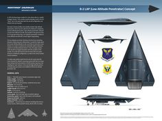 """This is how the LAP """"variant"""" could have looked. In Northrop began studies for a low-observable strategic bomber that would eventually result in the """"Spirit"""" s… New Aircraft, Military Aircraft, Us Navy, Us Bombers, 2 Spirited, Italian Air Force, Stealth Bomber, Concept Ships, Spaceship Concept"""
