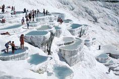 Pamukkale natural thermal pools turkey