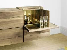 Mobile bar in legno SB10 ARAQ by e15 | design Philipp Mainzer