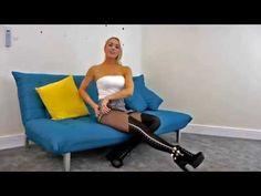 Legslavish UK » Gabrielle wears sexy showgirl tights by Adrian