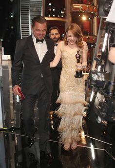 Emma Stone Oscars, Black Film Festival, Leonardo Dicaprio Photos, Actress Emma Stone, Best Actress Oscar, Camila Morrone, Looking Dapper, Oscar Winners, Golden Globe Award