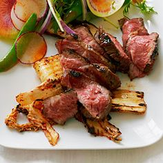 """Short Rib """"Steaks"""" with Grilled Kimchi"""