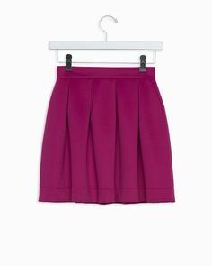pleated skirt #Fall #fuchsia