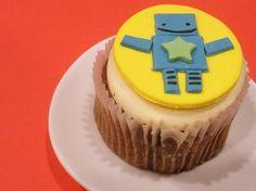 Robot Cupcake Topper