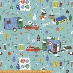 Patchwork anyag - Windham - Mouse Camp 40261-1 - Art-Export webáruház