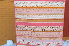 Have made this quilt using other fabrics....such  fun quilt to make.....Love strip quilts