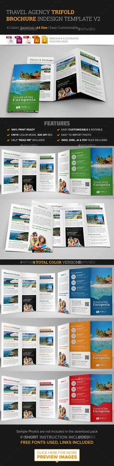 Travel Or Corporate Brochures Gd  Travel Template And Optimized
