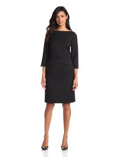 Pendleton Womens Seasonless Wool Park Avenue Zipped Dress, Black Worsted, 12 | Traveling Of Life