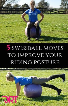 Here are 5 swissball training moves to help improve your dressage riding posture, balance and stability. In doing so will improve your confidence and position in the saddle. Horseback Riding Tips, Horse Riding Tips, Horse Tips, Horse Training, Training Tips, Yoga, Horse Exercises, Riding Lessons, English Riding